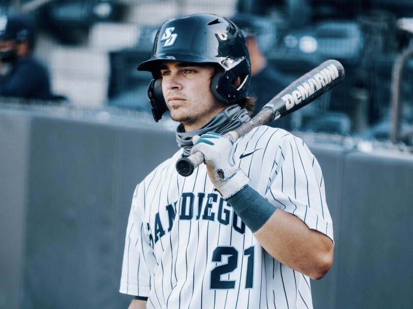 USD catcher Shane McGuire is expected to be among the top prospects for the 2021 MLB Draft.