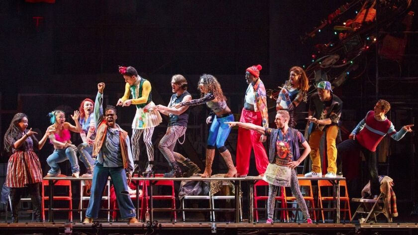 """The company of """"Rent,"""" now on its 20th-anniversary tour."""