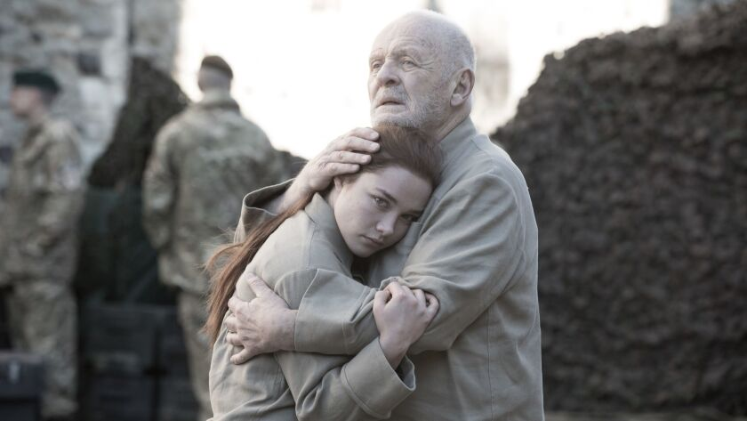 "Anthony Hopkins and Florence Pugh in ""King Lear"" on Amazon Prime."