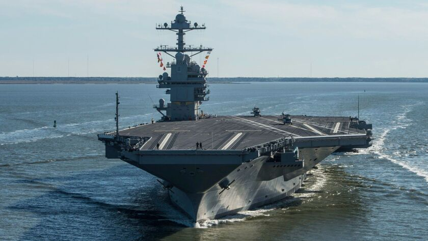 The future USS Gerald R. Ford aircraft carrier