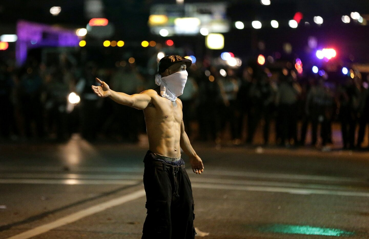 Ferguson shooting protests, reaction