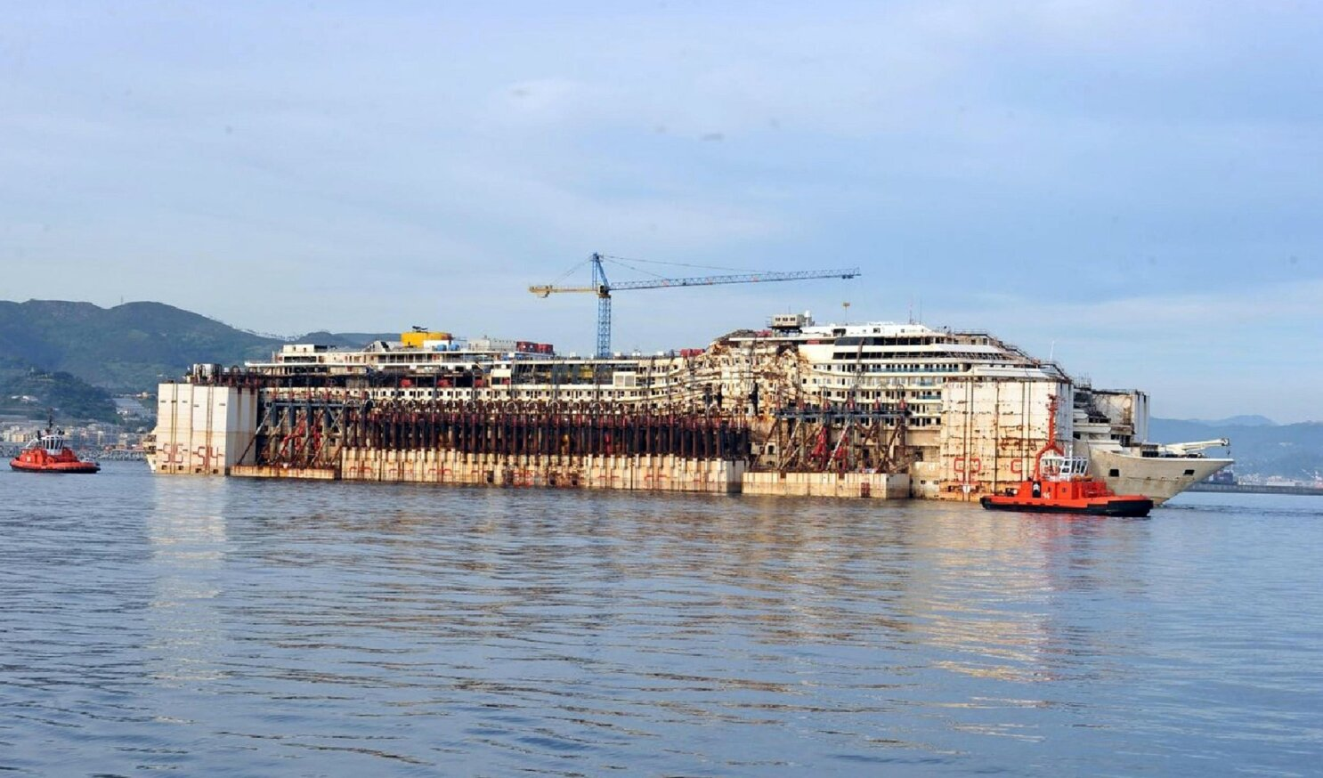Gutted Costa Concordia Cruise Ship Now Ready For Scrapping The San Diego Union Tribune