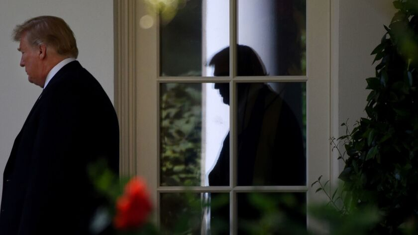 U.S. President Donald Trump leaves the Oval Office as he departs the White House in Washington, D.C. on Sept. 6, 2018.