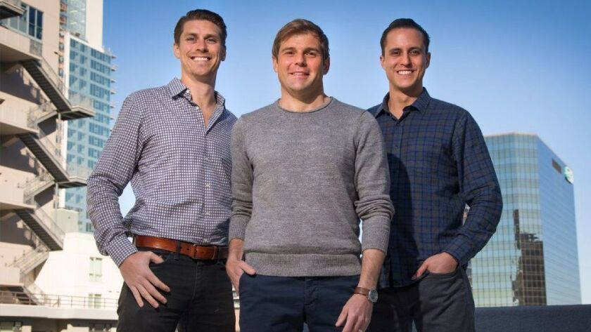 Trust & Will co-founders, Daniel Goldstein, COO, left, Brian Lamb, Head of Product, center, and Cody Barbo, right, CEO. They created an online platform that helps the average person to set up legal trusts and wills for a flat fee.