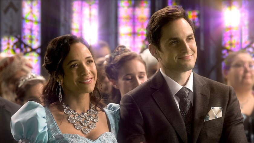 """Dania Ramirez and Andrew J. West in """"Once Upon a Time"""" on ABC."""