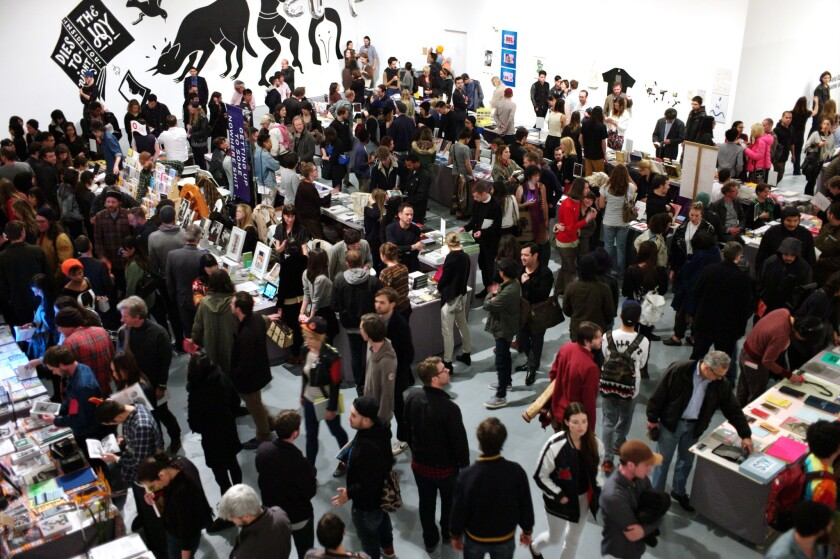 The L.A. Art Book Fair at MOCA's Geffen Contemporary in downtown Los Angeles typically attracts more than 30,000 people.