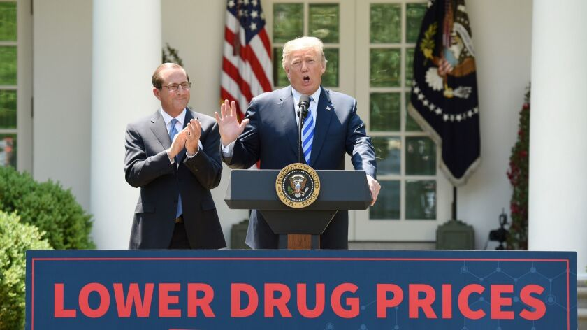 U.S. President Donald Trump delivers remarks on lowering drug prices - DC