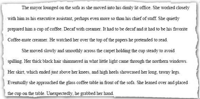 "Opening passage from Lee Burdick's book, ""Bob Filner's Monster."""