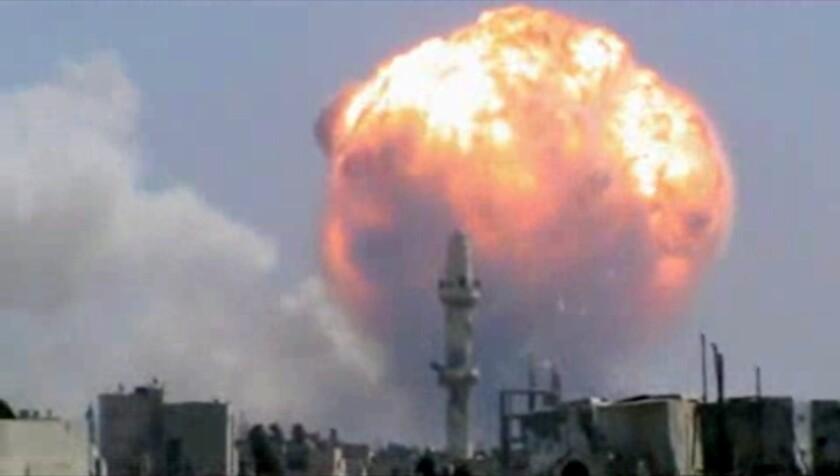 Homs explosion