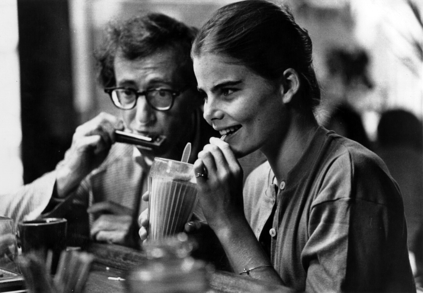"Woody Allen decided to make his comedic romance in black-and-white, showcasing the love his divorced forty-something comedy writer had for the 17-year-old Mariel Hemingway character in stark, stylized black-and-white. And really, would the montage of New York scenes over George Gershwin's ""Rhapsody in Blue"" have been the same without it?"