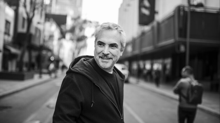 """Alfonso Cuarón in Mexico City, where he grew up and shot scenes for """"Roma."""""""