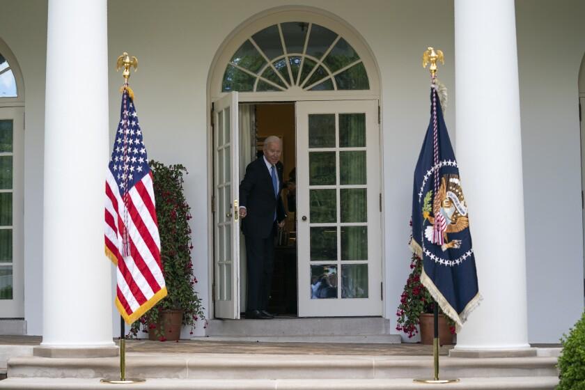 El presidente Joe Biden en la Casa Blanca.