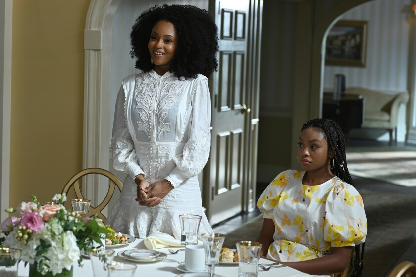 """Yaya DaCosta, left, and Alana Bright in """"Our Kind of People"""" on Fox."""