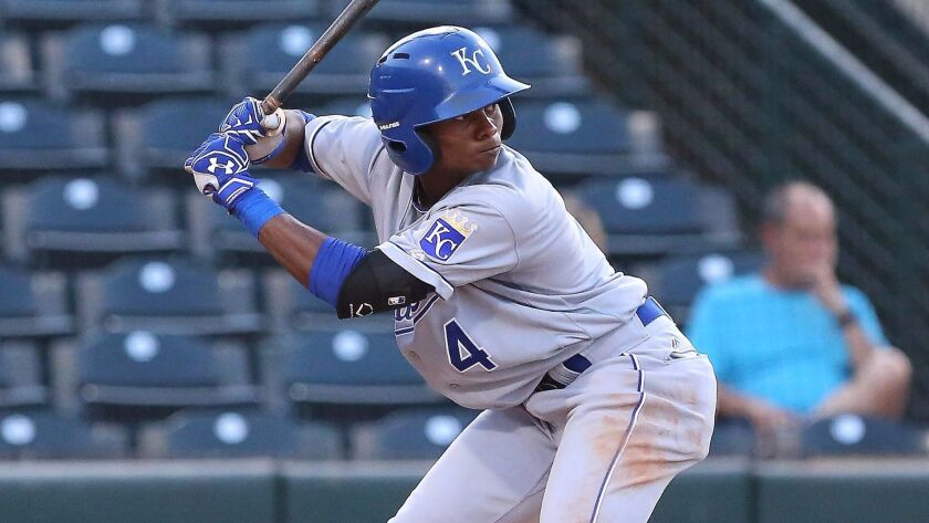 The Padres acquired 18-year-old infielder Esteury Ruiz from the Royals on Monday, July 24, 2017.