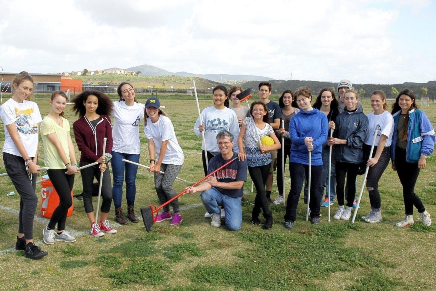Students participated in a Potter Walk to raise funds for the Carmel Valley Library media system