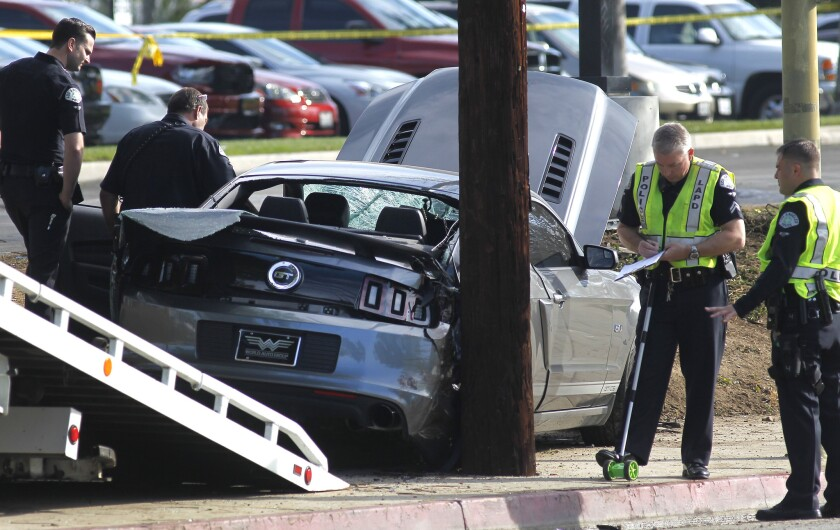 Two pedestrians were killed by the driver of a Ford Mustang who fled the scene in Chatsworth, police said.