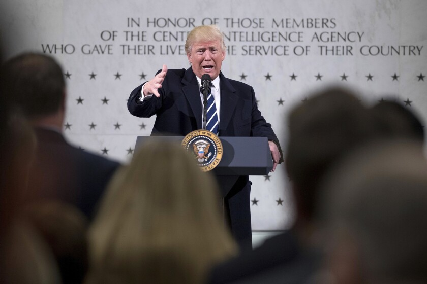 President Trump at CIA headquarters