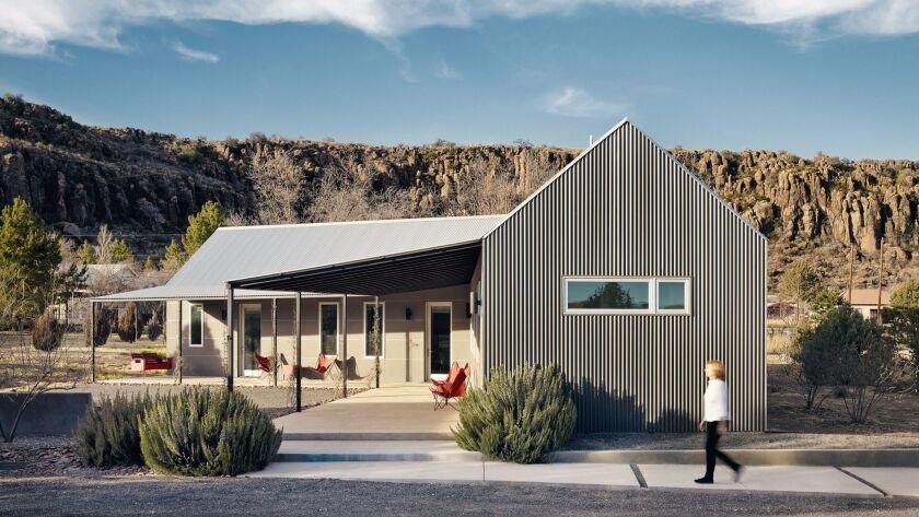 "A corrugated compound in ""Marfa Modern"""