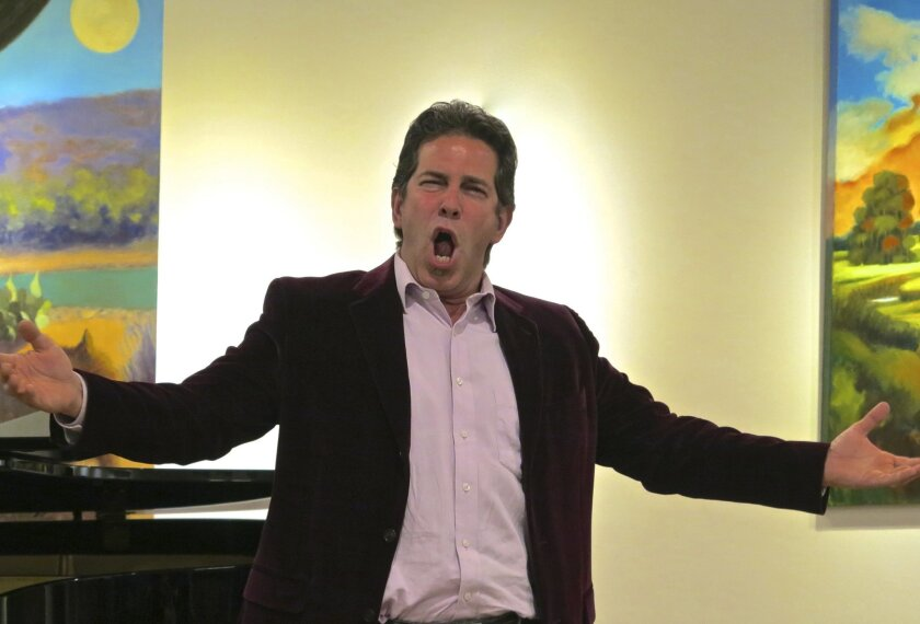 Local bass Walter Du Melle performing at a recent Opera Wednesday concert. Courtesy