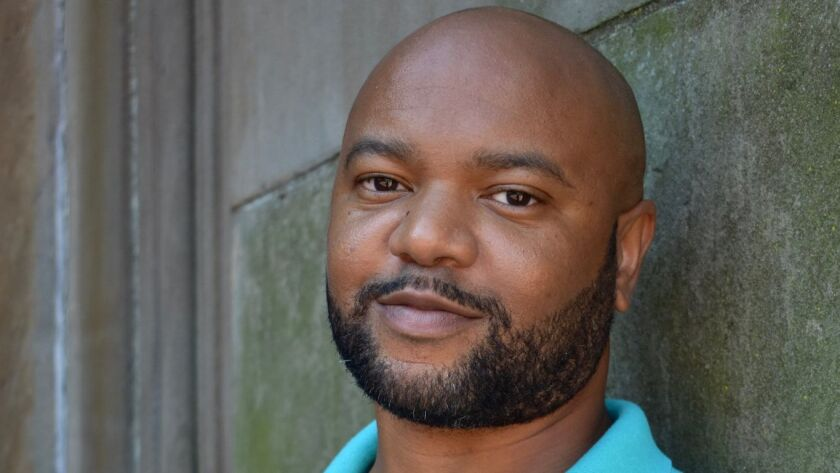 """An author photo of De'Shawn Winslow for his book """"In West Mills."""" Credit: Julie R. Keresztes"""