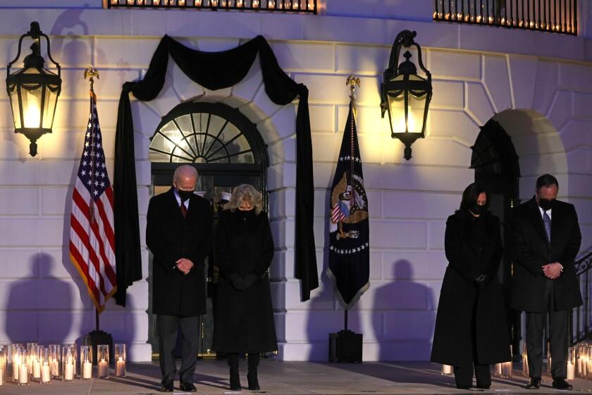 President Biden, First Lady Jill Biden, Vice President Kamala Harris and Second Gentleman Doug Emhoff on Feb. 22