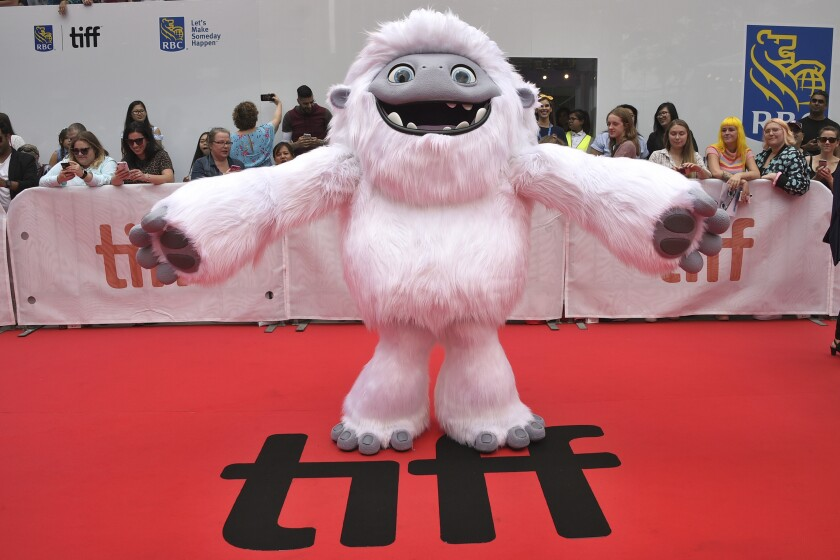 "FILE - In this Sept. 7, 2019, file photo, the character Everest from the film ""Abominable"" appears on the red carpet on day three of the Toronto International Film Festival at Roy Thomson Hall in Toronto. Vietnam has pulled ""Abominable"" from theaters because the U.S.-Chinese-made animated movie showed a map supporting Chinese claims to the disputed South China Sea. (Photo by Evan Agostini/Invision/AP, File)"