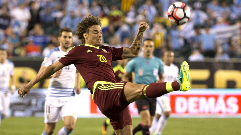 Rolf Feltscher (20) and Venezuela have been a Copa America surprise.