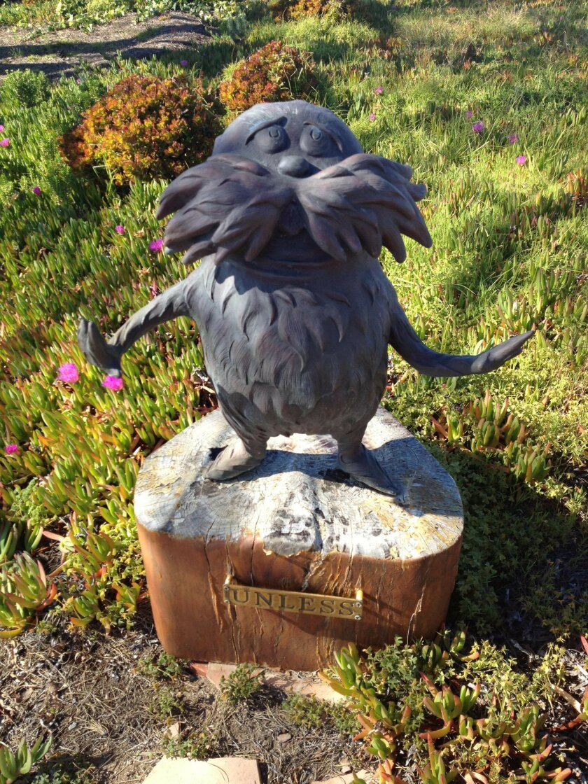 This 300-pound Lorax statue was stolen March 2012 from the home of Audrey Geisel.