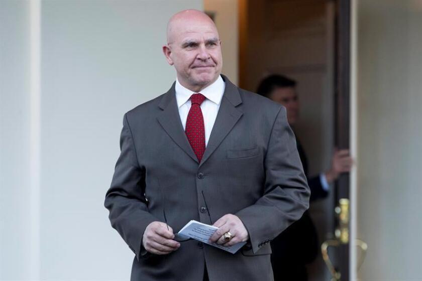 El asesor de Seguridad Nacional de la Casa Blanca, el general H.R. McMaster, dejó hoy ese cargo, que pasará a ocupar el exembajador ante las Naciones Unidas John Bolton. EFE/Archivo