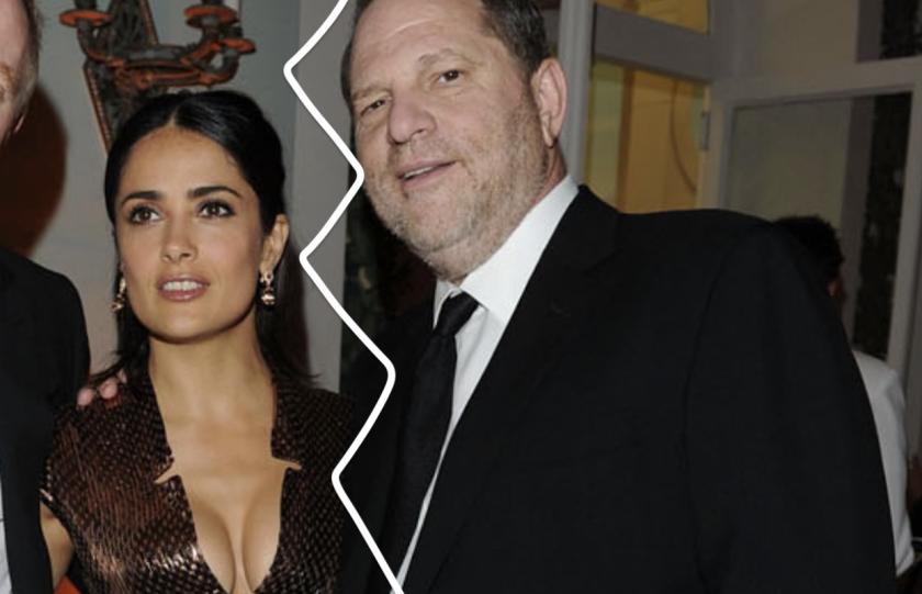 Salma Hayek y el productor Harvey Weinstein... en otros tiempos.