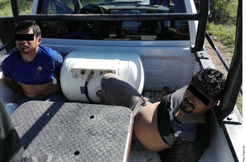 Ex militares detenidos por narcos
