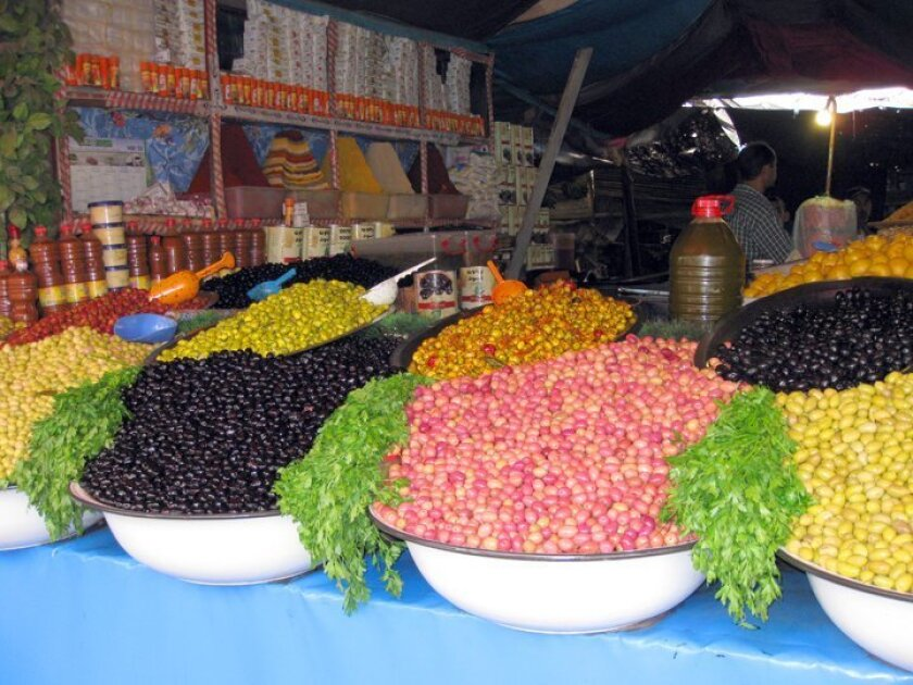 Best Food Photo — Honorable Mention: 'Olive Shop in Morocco' by Dave Stutz for the LaJollaLight.com monthly photo contest