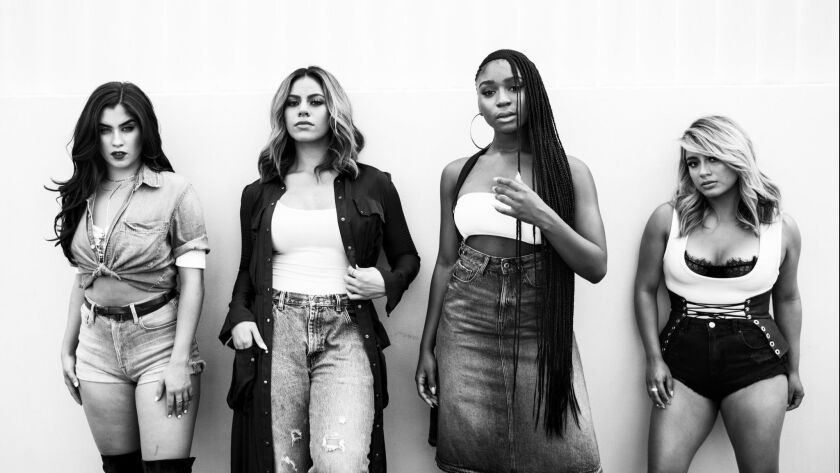 The members of Fifth Harmony — Lauren Jauregui, left, Dinah Jane Hansen, Normani Kordei and Ally Brooke Hernandez — are parting ways to focus on solo projects.