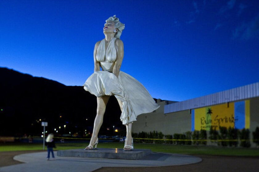 Seward Johnson's statue of Marilyn Monroe is returning to Palm Springs.