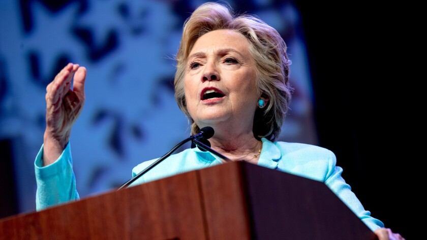 Hillary Clinton speaks at the 2016 National Assn. of Black Journalists' and National Assn. of Hispanic Journalists' Hall of Fame Luncheon in Washington on Aug. 5.