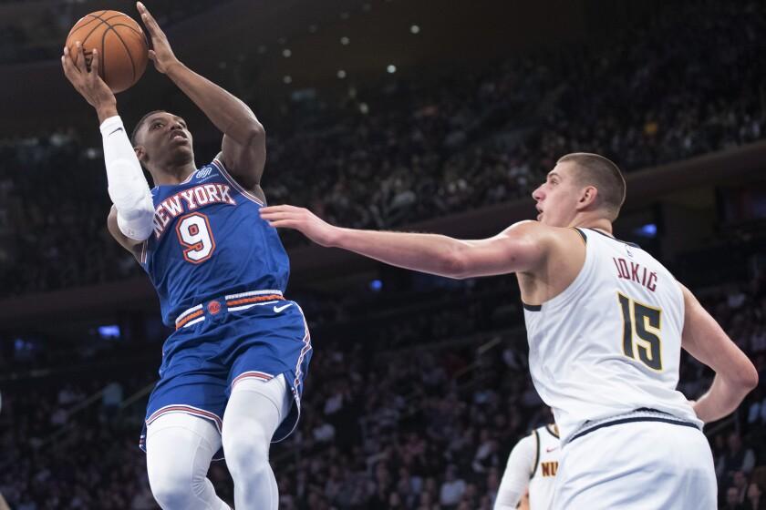 Nuggets Knicks Basketball