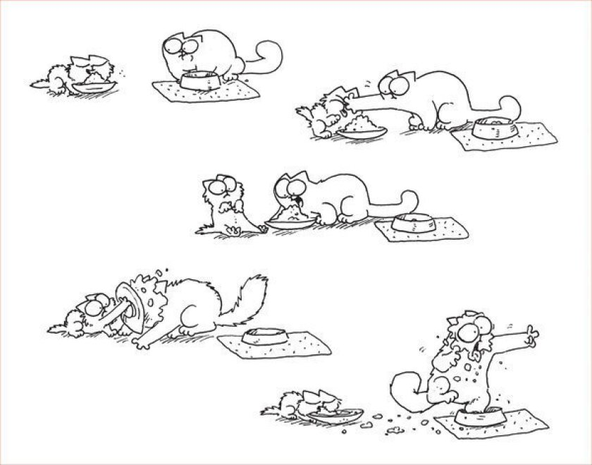 "An illustration from the new book ""Simon's Cat in Kitten Chaos."""