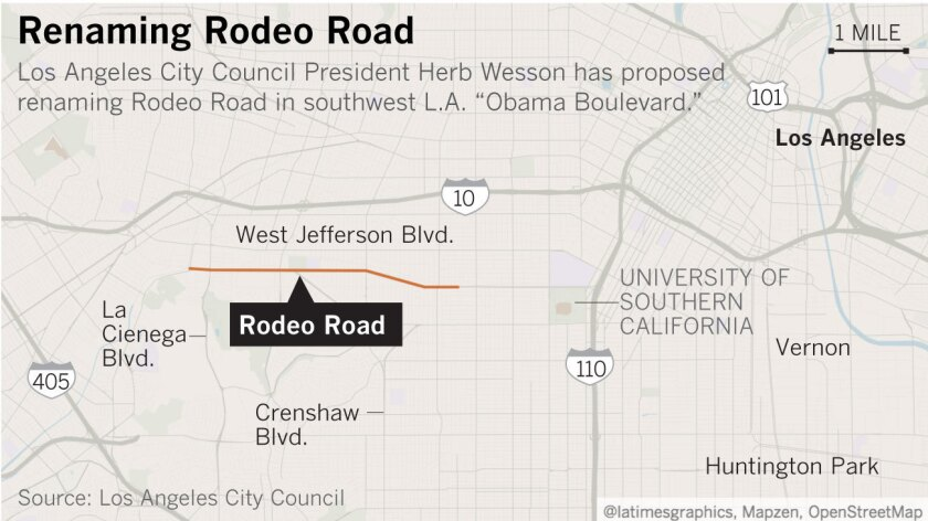 Rodeo Road possibly renamed to Obama Boulevard