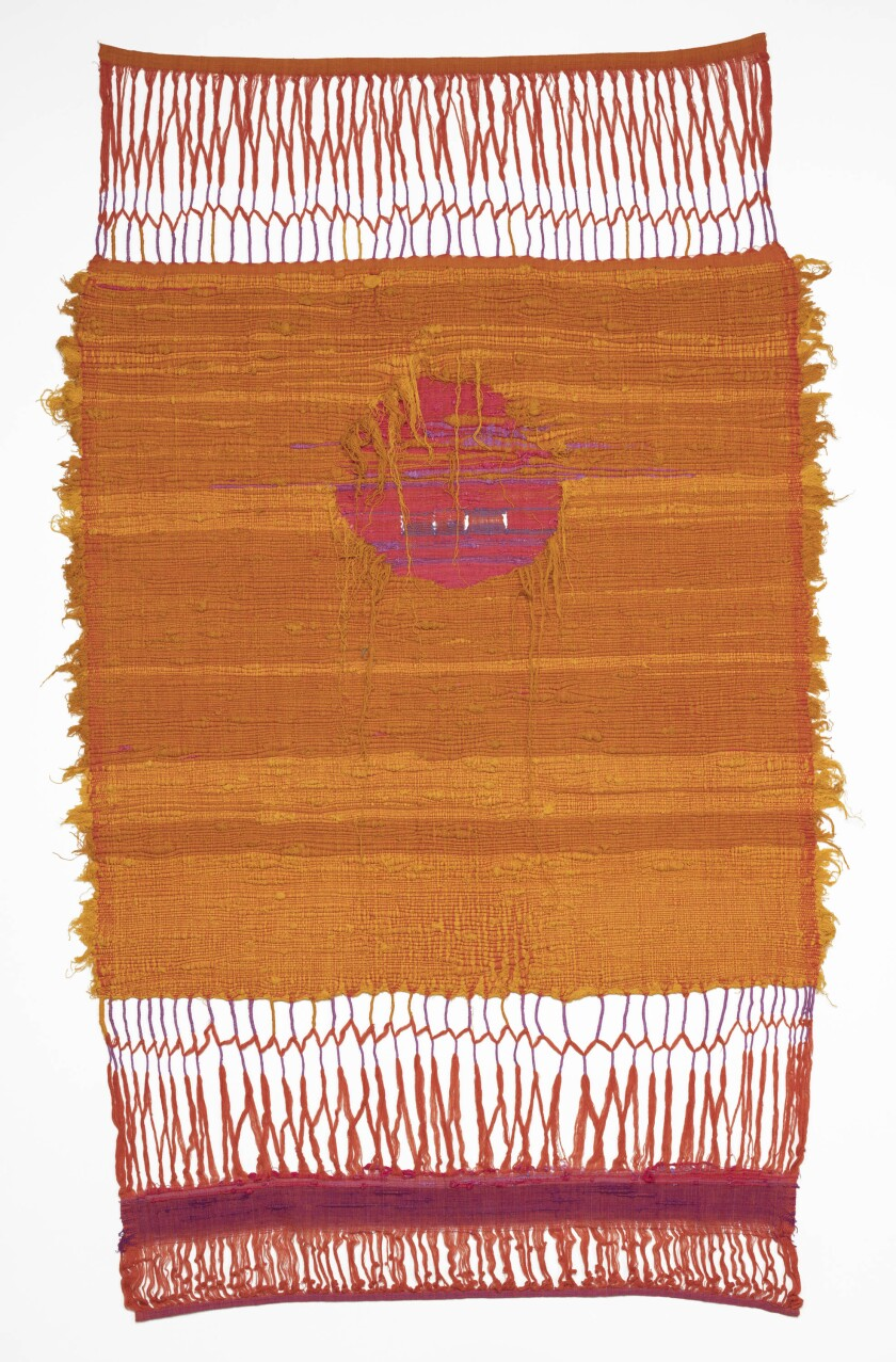 """Learning to Weave in Taxco, Mexico,"" about 1960, a textile by Sheila Hicks."