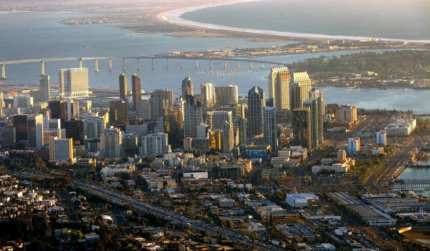 The San Diego Unified Port District stretches around San Diego Bay taking in four cities besides San Diego itself -- Chula Vista, Coronado, Imperial Beach and National City.