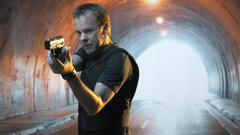 "Kiefer Sutherland is Jack Bauer in ""24."""