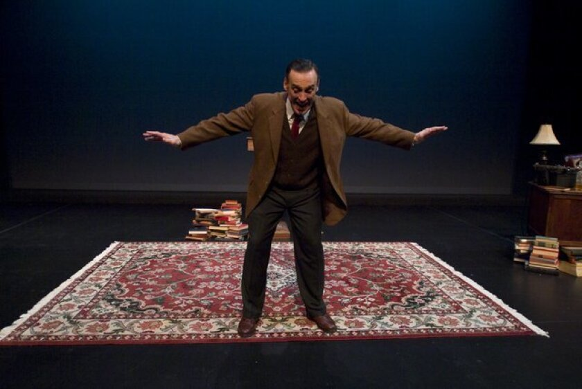"Tom Key in his solo play ""C.S. Lewis On Stage"" at Lamb's Players Theatre in Coronado."