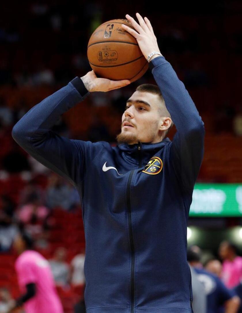 El español Juan Hernangomez de Denver Nuggets. EFE/Archivo