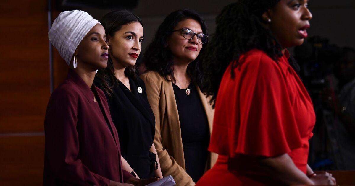 Trump renews attack on minority congresswomen; congressman offers sharp rebuke