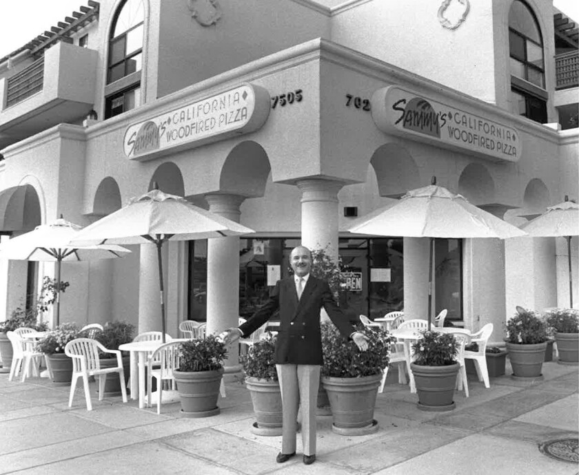 Sami Ladeki, on the first day of business of Sammy's Woodfired Pizza, in June 1989.