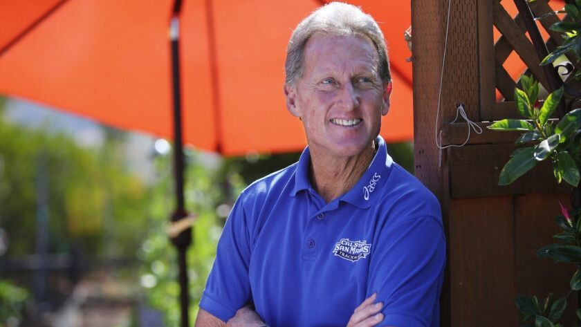 Steve Scott at his Carlsbad home Sunday. photo by Bill Wechter