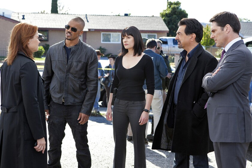 """""""Criminal Minds"""" is among the TV shows with the highest percentage of minority writers, according to a report by the Writers Guild of America, West."""