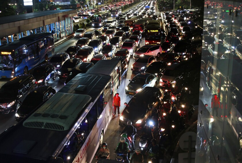 Jakarta's notoriously congested traffic has contributed to the Indonesian government's push to relocate the nation's capital 1,300 miles away to East Kalimantan on the island of Borneo.