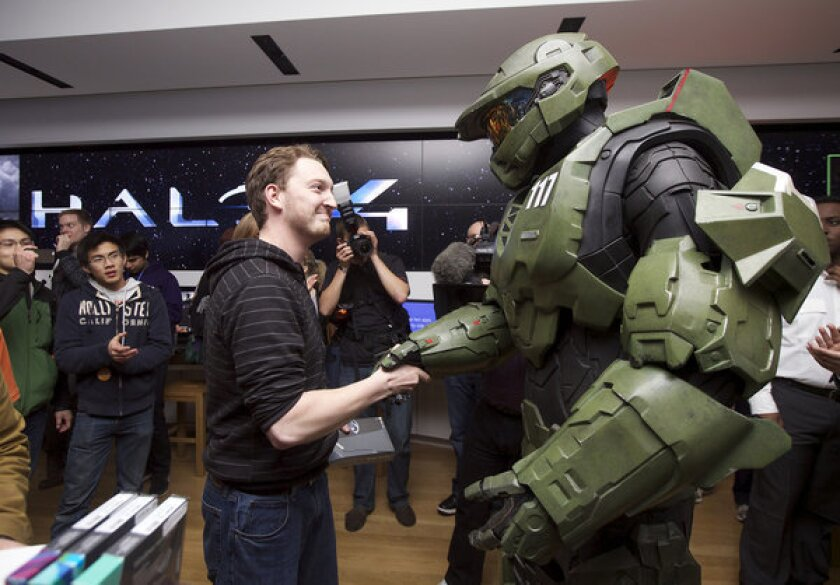 """Fans at a launch event for """"Halo 4,"""" which enjoyed $220 million of first day sales."""