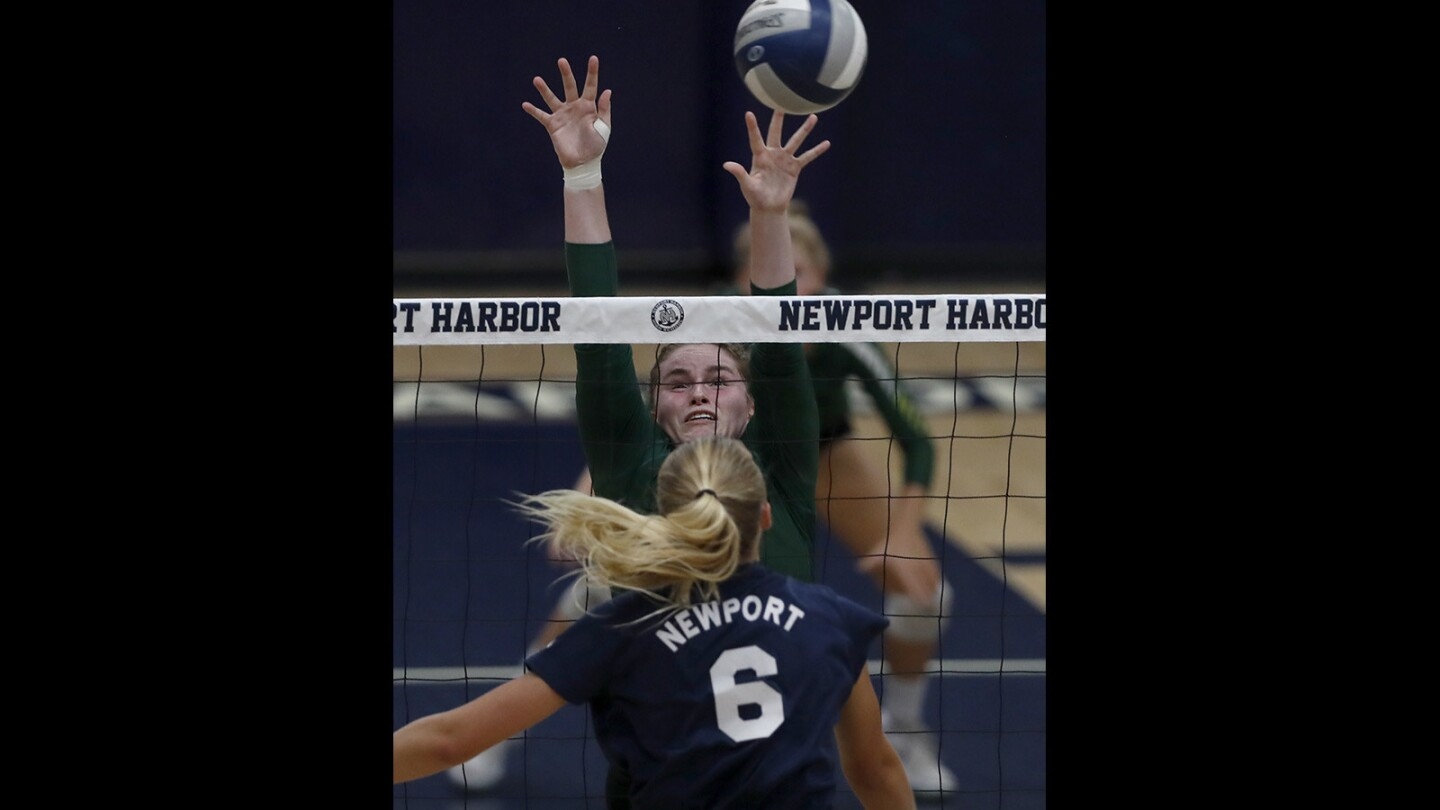 Photo gallery: Edison vs. Newport Harbor in girls' volleyball